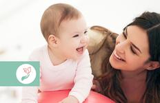 Kinetoterapie pentru bebeluși.